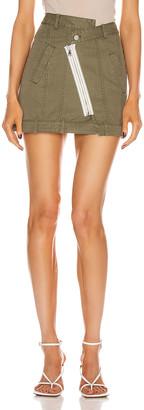 Marissa Webb Eliza Heavy Canvas Skirt in Military Green | FWRD