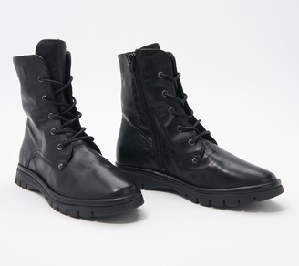 Miz Mooz Leather Lace-Up Mid Boots - Dane
