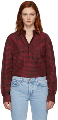 Alexander Wang Red Plaid Western Shirt