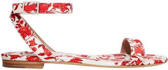 Tabitha Simmons + Johanna Ortiz Judy Floral-print Duchesse-satin Sandals