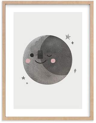 Pottery Barn Kids A Happy Moon Wall Art by Minted®, 11x14, Black