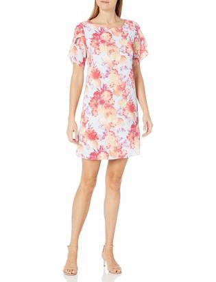 Ronni Nicole Women's Short Sleeve V-Neck Floral Sheath