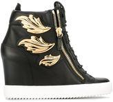 Giuseppe Zanotti Design 'Cruel' wedge sneakers - women - Leather/Metal (Other)/rubber - 35