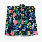 J.Crew Floral tie-waist short in cotton poplin