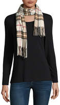 Fraas Plaid Oblong Fringe Cold Weather Scarf