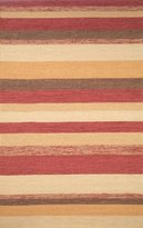Liora Manné Ravella Stripe Rug, 24-Inch by 36-Inch, Red