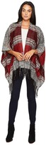 San Diego Hat Company BSP3535 Soft Woven Poncho with Fringe Women's Clothing