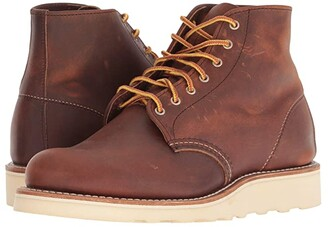 Red Wing Shoes 6 Round Toe (Black Boundary) Women's Lace-up Boots
