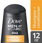Dove Men+Care 2 in 1 Shampoo and Conditioner Thick and Strong
