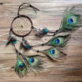 DEESEE(TM) Dream Catcher Home Decoration Circular Feathers Wall Hanging Decoration Decor Craft Gift (A)