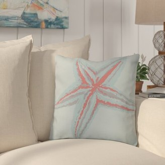 "Highland Dunes Allman Decorative Starfish Throw Pillow Highland Dunes Size: 16"" H x 16"" W, Color: Coral"