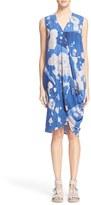 Zero Maria Cornejo Women's 'Ulla' Lotus Print Stretch Silk Charmeuse Dress