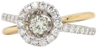 London Fine Jewelry 14K Two-Tone 0.92 Ct. Tw. Diamond Half-Eternity Ring
