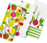 Martha Stewart Collection 3-Pc. Fresh Flavors Kitchen Towel Set