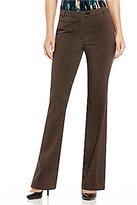 Calvin Klein Birdseye Check Stretch Suiting Modern Fit Straight-Leg Pants