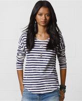 Long-Sleeve Striped Jersey Tee