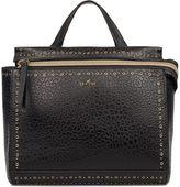Hogan Black Hammered Leather Top Handle Bag