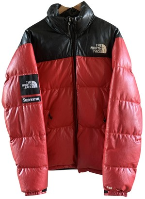 Supreme X The North Face Red Leather Jackets