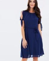 Dorothy Perkins Chiffon Belted Dress