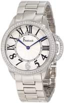 Freelook Women's HA9048M-4 All Silver Half Dial Swarovski Bezel Watch