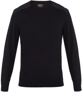 A.P.C. Johnny shoulder-panel wool sweater