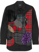 Junya Watanabe Tokyo Additions Appliquéd Cotton-poplin Shirt - Black