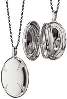 Monica Rich Kosann Sterling Silver & White Sapphire Locket Necklace