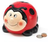 Burton & Ladybug Collection - Adorable Ladybug Lady Bug Piggy Bank Great Gift