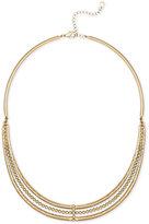 Rachel Roy Gold-Tone Triple-Row Necklace