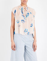 Ulla Johnson Saadi neck-tie silk-chiffon blouse