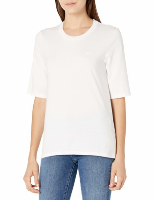 Lacoste Women's 3/4 Sleeve Jersey Crewneck T-Shirt