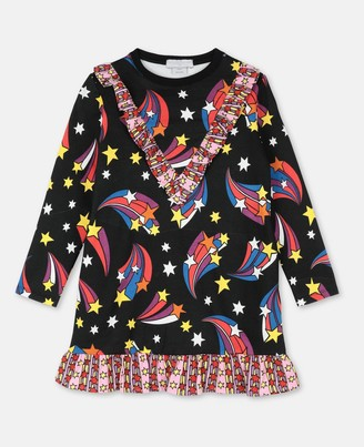 Stella Mccartney Kids Stella McCartney shooting stars fleece dress