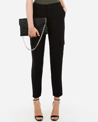 Express Mid Rise Pull-On Utility Ankle Pant