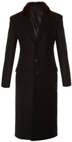 Givenchy Fur-collar single-breasted wool coat