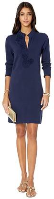 Lilly Pulitzer Clary Polo Dress (True Navy) Women's Clothing