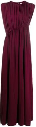 Erika Cavallini Asymmetric Gathered Waist Gown