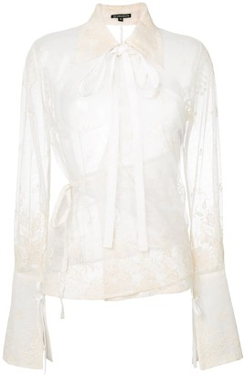 Ann Demeulemeester Lace Embroidered Blouse