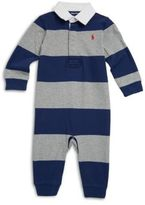 Ralph Lauren Baby's Striped Cotton Rugby Coverall