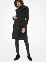 Michael Kors Shawl-Collar Quilted Puffer Coat