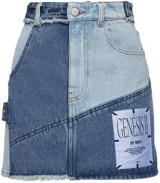 McQ Genesis Ii Patchwork Denim Mini Skirt