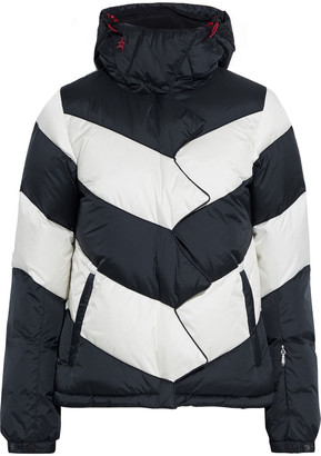 Perfect Moment Super Day Two-tone Hooded Down Ski Jacket