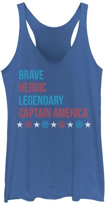 Marvel Juniors' Captain America Brave & Heroic Graphic Tank