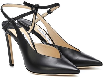 Jimmy Choo Sakeya 100 leather pumps