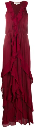 MICHAEL Michael Kors Ruffle Shift Maxi Dress