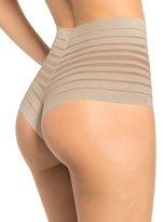 Leonia Retro High-Wait Thong Panty