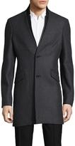 The Kooples Men's Authentic Wool Top Coat
