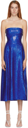 Saks Potts SSENSE Exclusive Blue Shimmer Jepska Dress