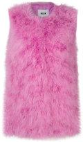 MSGM fur gillet - women - Polyester/Turkey Feather - 40