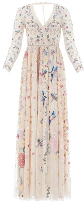 Needle & Thread Elements Embroidered Gown