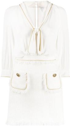Elisabetta Franchi Tweed-Panelled Dress